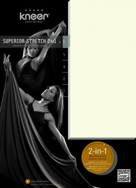 Kneer Spannbetttuch Superior-Stretch 2-in-1