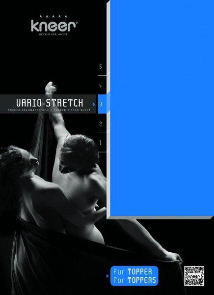 Kneer Spannbetttuch Vario-Stretch für Topper oneflex